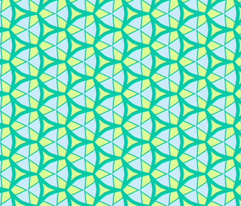 Stained Glass in Green & Blue fabric by blue_dog_decorating on Spoonflower - custom fabric