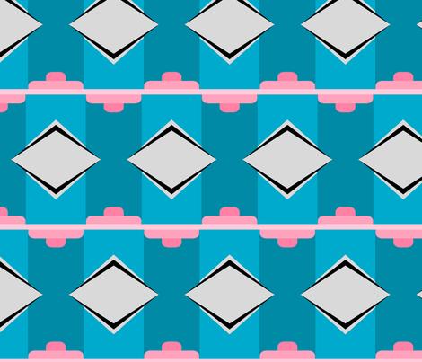 Art Deco Diamond Repeat fabric by blue_dog_decorating on Spoonflower - custom fabric