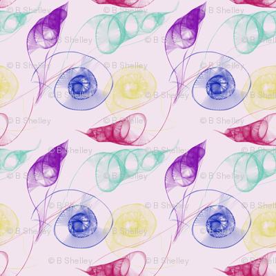 Swirling Crystal Seashells
