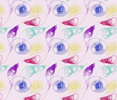 Swirling Crystal Seashells fabric by blue_dog_decorating on Spoonflower - custom fabric