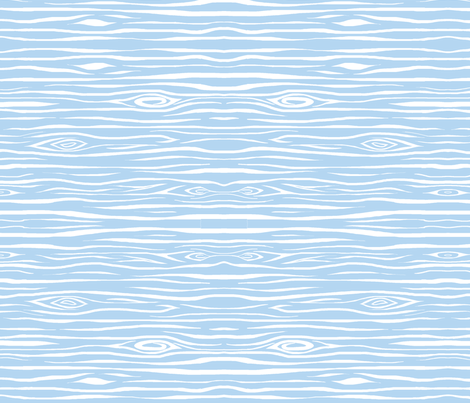 Woodgrain small - baby blue and white fabric by sugarpinedesign on Spoonflower - custom fabric