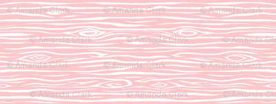 Woodgrain small - pink and white