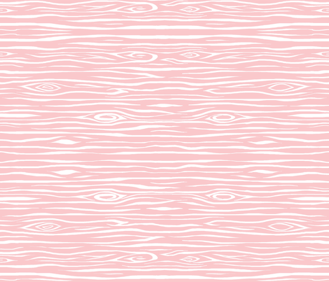 Woodgrain small - pink and white fabric by sugarpinedesign on Spoonflower - custom fabric