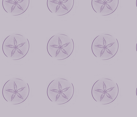 Purple Sand Dollars fabric by blue_dog_decorating on Spoonflower - custom fabric