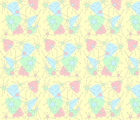 Atomic in Pastels fabric by blue_dog_decorating on Spoonflower - custom fabric