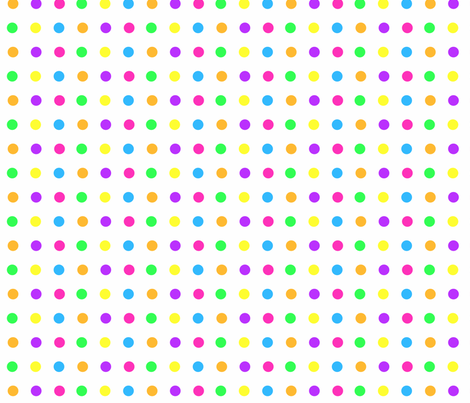 Bright Polka Dots on White fabric by blue_dog_decorating on Spoonflower - custom fabric