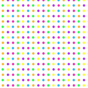Bright Polka Dots on White