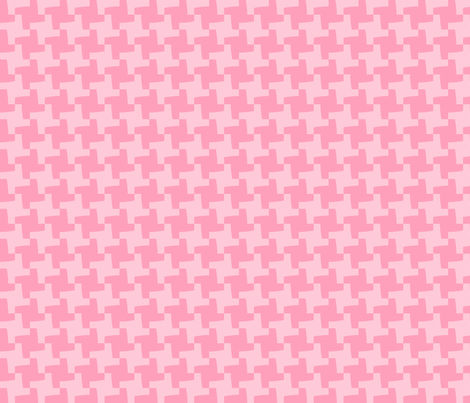 Pink Houndstooth fabric by blue_dog_decorating on Spoonflower - custom fabric
