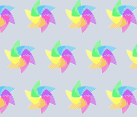 Pinwheels on Grey fabric by blue_dog_decorating on Spoonflower - custom fabric