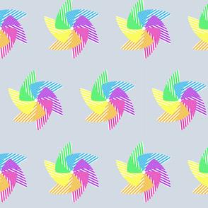 Pinwheels on Grey