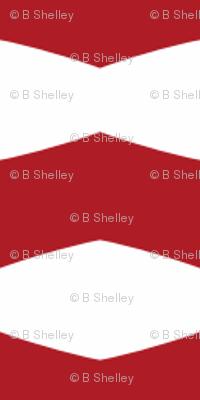 Red & White Chevron Stripe