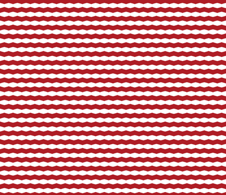 Red & White Chevron Stripe fabric by blue_dog_decorating on Spoonflower - custom fabric