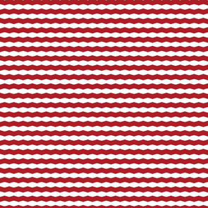 Red & White Chevron Stripe