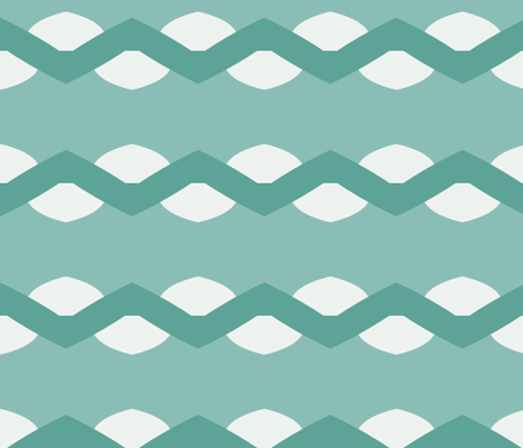 Ric Rac Stripes in Greens fabric by blue_dog_decorating on Spoonflower - custom fabric