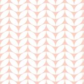 Classic knit, white on wedding peach by Su_G