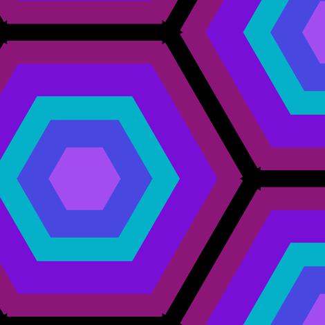 Medium Honeycomb in Rainbow fabric by blue_dog_decorating on Spoonflower - custom fabric