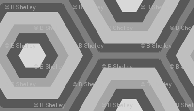 Large Honeycomb in Greys