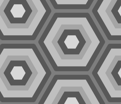 Large Honeycomb in Greys fabric by blue_dog_decorating on Spoonflower - custom fabric