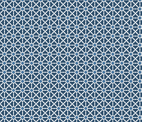 Trellis in Blue & White fabric by blue_dog_decorating on Spoonflower - custom fabric