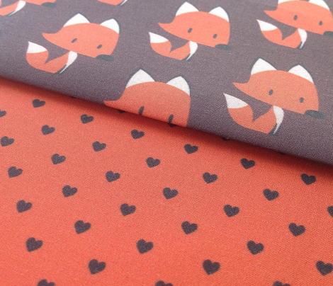 Polka hearts for Red Fox