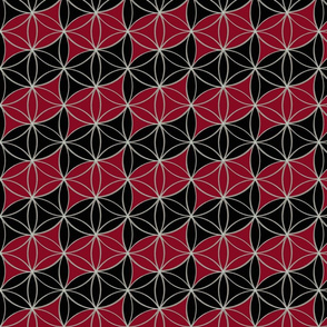Flower_of_Life_Red_and_Black_Pattern