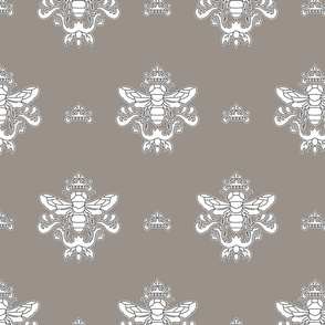 Royal Bumble Bee in Gray and White