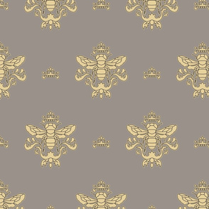 Royal Bumble Bee in Gray and Beige