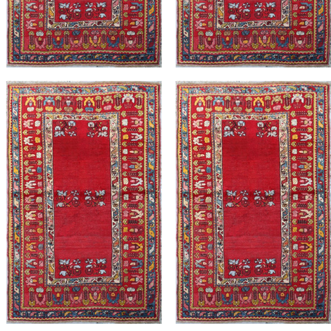 antique_turkish_mujur_rug fabric by vinkeli on Spoonflower - custom fabric