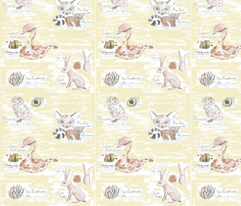 New_Mexican_Desert_Nature_Journal fabric by saintly_stitches on Spoonflower - custom fabric