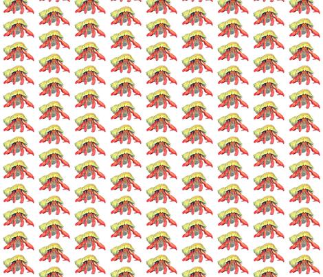 hermit_crab_illustration_transparent_background fabric by srstoltz on Spoonflower - custom fabric