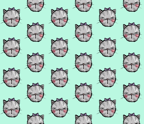 Sweet Little Kitty fabric by almostnoelle on Spoonflower - custom fabric