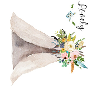 Spring Teepee with Butterfly - Isn't She Lovely Quote