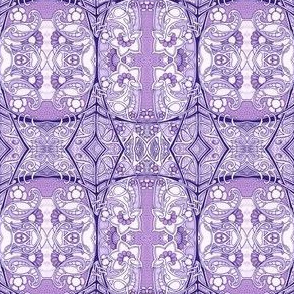 Purple Paisley Flower Web