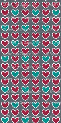 Little Hearts Gray (Spice)