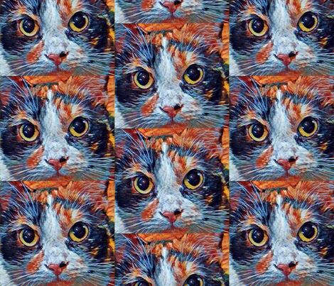 Carmilla Calico Cat fabric by jennifersamedi on Spoonflower - custom fabric