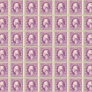 1908 George Washington 3-cent purple stamp sheet