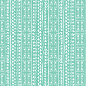 Tribal Warrior Stripe Mint Green