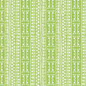Tribal Warrior Stripe Leaf Green