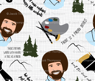 Homage to Bob Ross