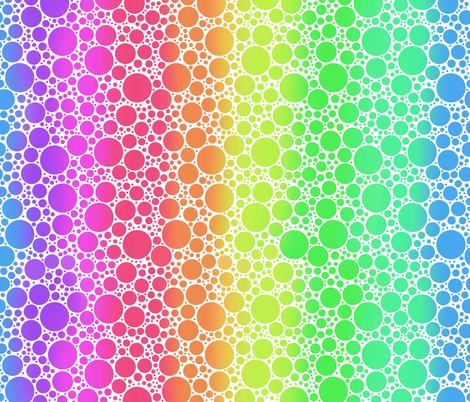 rainbowdots3 fabric by sixsleekswans on Spoonflower - custom fabric
