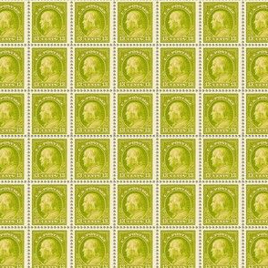 1919 Benjamin Franklin 13-cent lime green stamp sheet