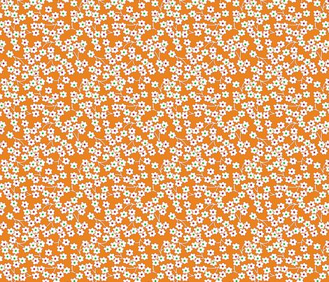 Flour sack: poppies on orange fabric by sixsleekswans on Spoonflower - custom fabric