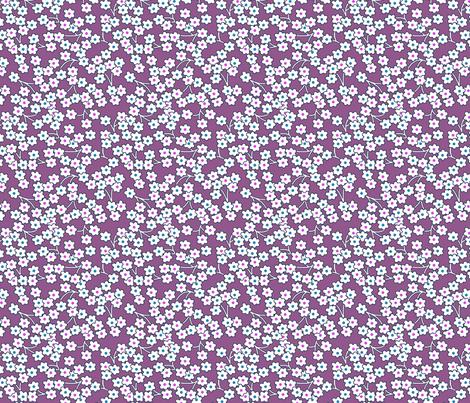 Flour sack:  poppies on purple fabric by sixsleekswans on Spoonflower - custom fabric