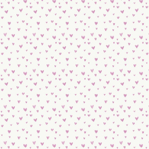 Pink watercolor kids hearts