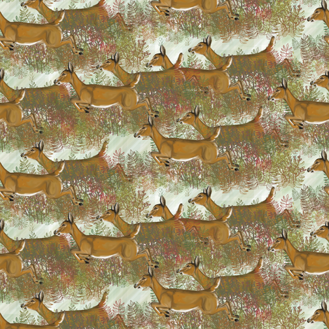 Thats the Way the Does Goes on Snows fabric by eclectic_house on Spoonflower - custom fabric