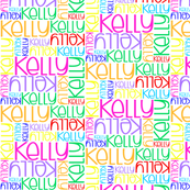 Personalised Name - Kelly (Rainbow)