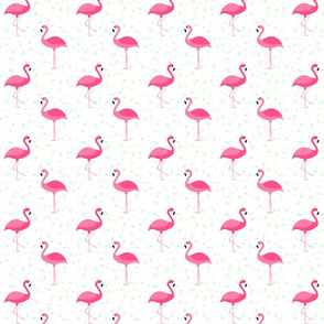 Flamingos with Mint Dots (small)