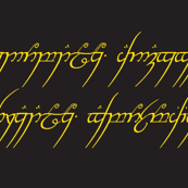 """Lord of the rings - """"one ring"""" script (smaller)"""