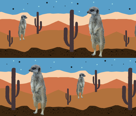 Desert Meercats fabric by redthanet on Spoonflower - custom fabric