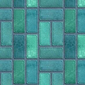 rectangles mint green